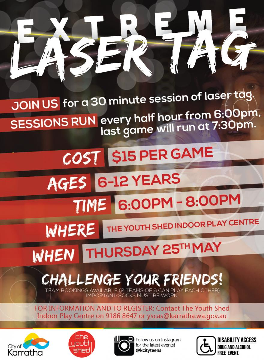 YOUTH: Extreme Laser Tag @ The Youth Shed Indoor Play Centre