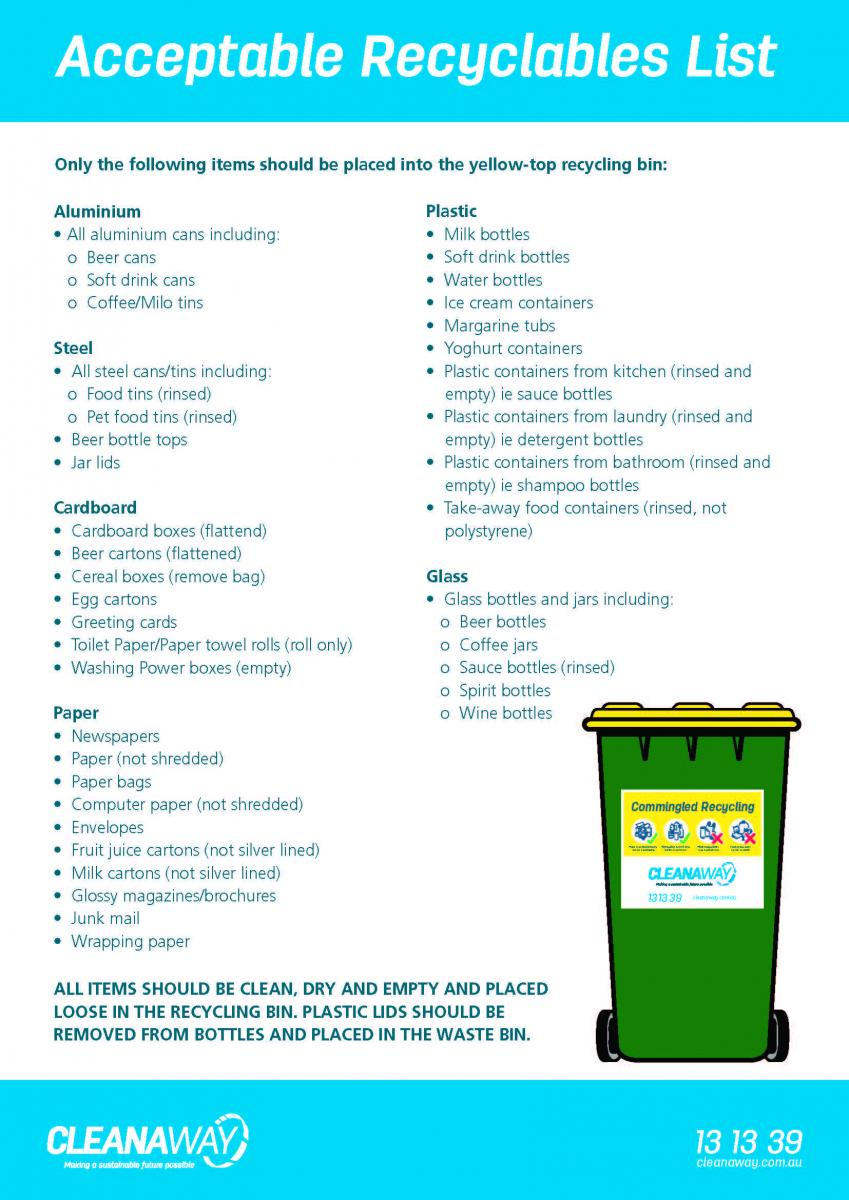 Recycling Bin Service | City of Karratha