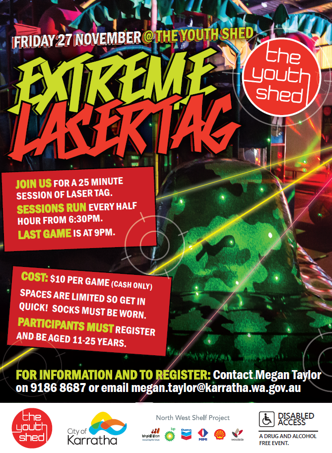 Extreme Laser Tag @ The Youth Shed | City of Karratha