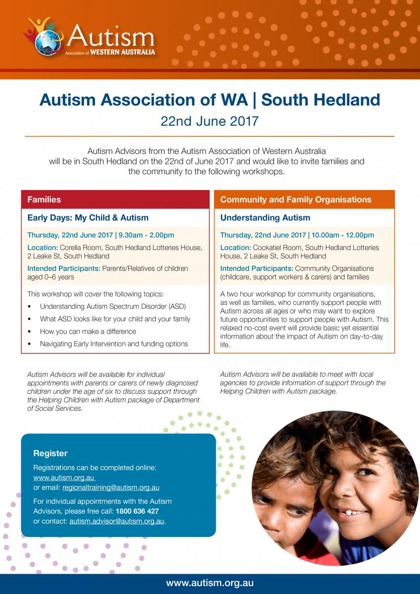 For Parents Of Autistic Kids 22nd >> Autism Association Of Wa South Hedland City Of Karratha